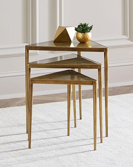 Bon Interlude Home Janine Triangular Nesting Tables