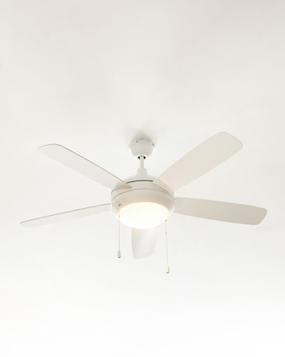 Ceiling Fan with Light, White