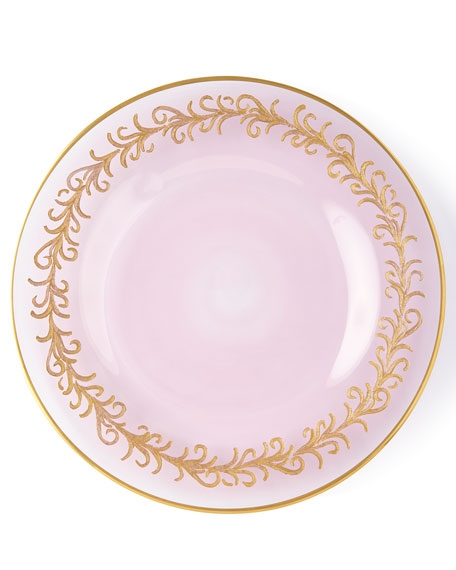 Neiman Marcus Blush Oro Bello Salad Plates, Set