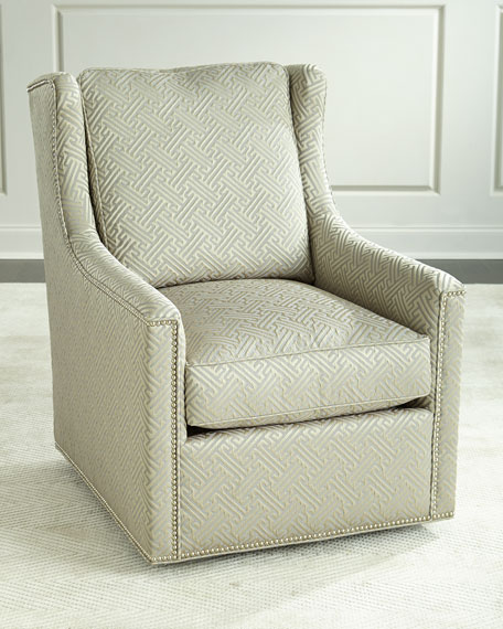 Braxton Swivel Chair, Beige