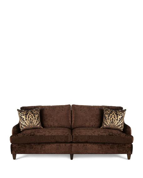 Carla Velvet Sofa, Brown