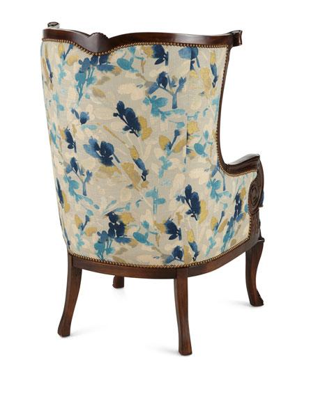 Gannon Wingback Chair, Indigo