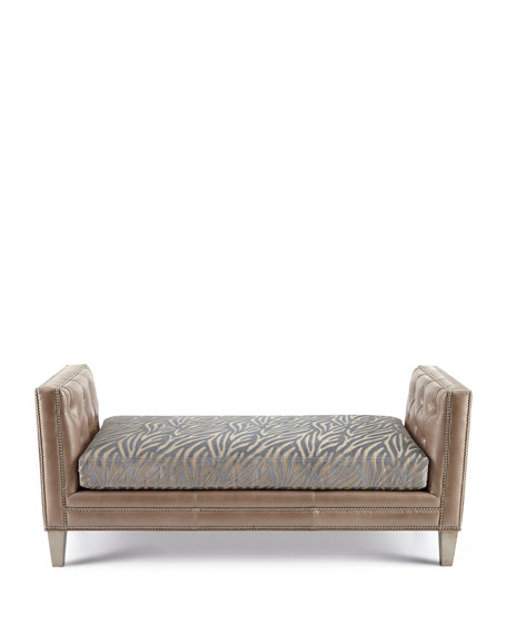 Clive Zebra-Stripe Bench