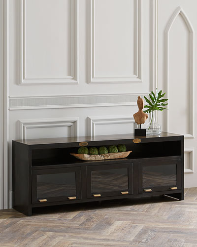 Owen Three-Door Media Cabinet