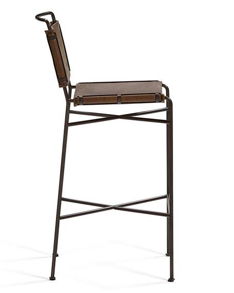 Nicholas Leather Barstool