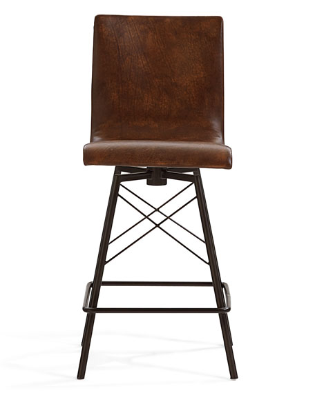 Tiago Leather Counter Stool