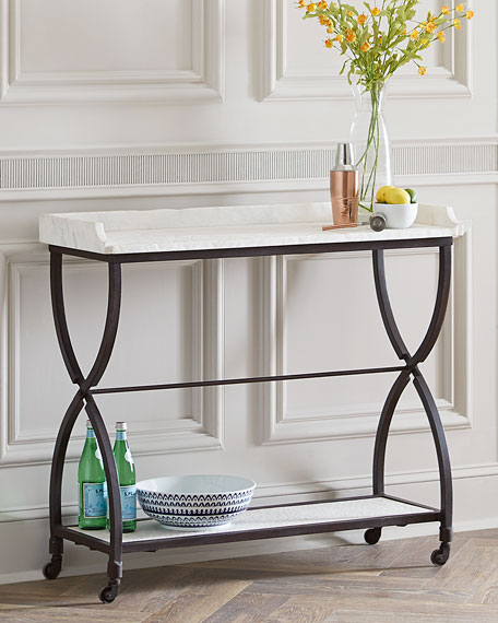 Stone Console Table: James Iron And Marble Console Table