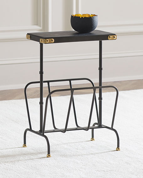 Matthew Side Table/Magazine Rack