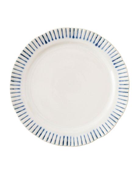 Wanderlust Stripe Indigo Dessert/Salad Plate