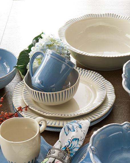 Sitio Stripe Indigo Dinner Plate