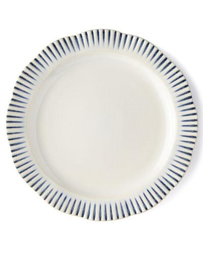 Wanderlust Stripe Indigo Dinner Plate