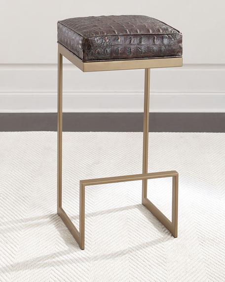 Halian Metal Bar Stool, Bronze