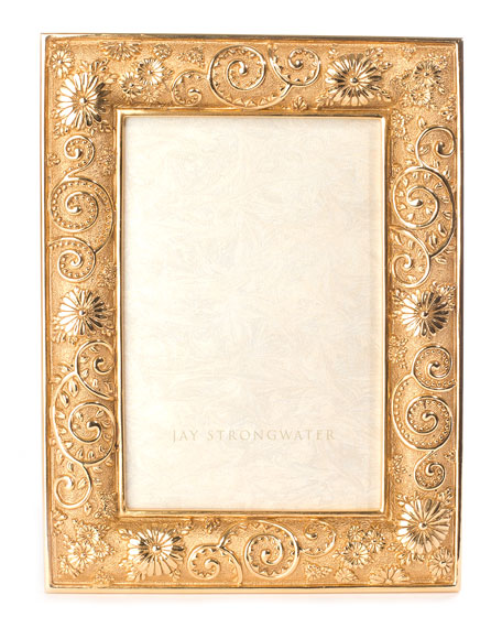 """Flower Scroll Picture Frame, 4"""" x 6"""""""