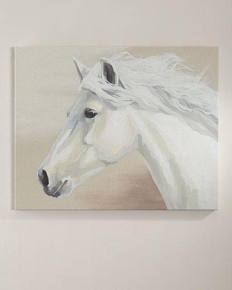 Glitter Horse Head Giclee