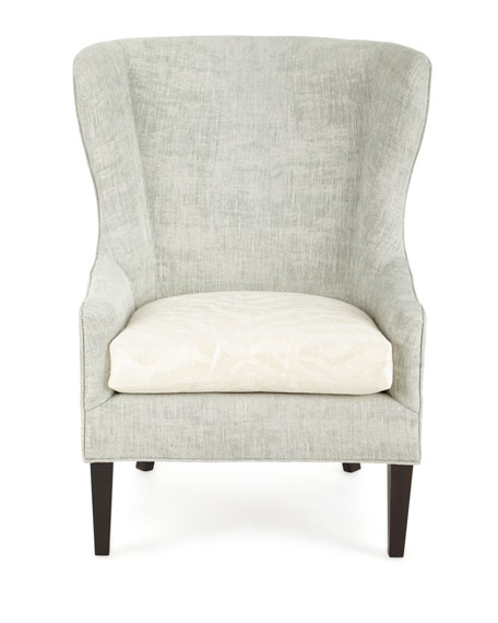 Darrow Wingback Chair, Light Green