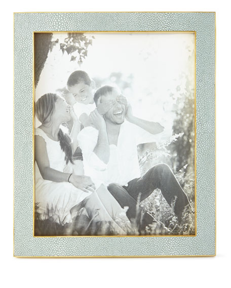 """Mist Classic Faux-Shagreen 8"""" x 10"""" Picture Frame"""