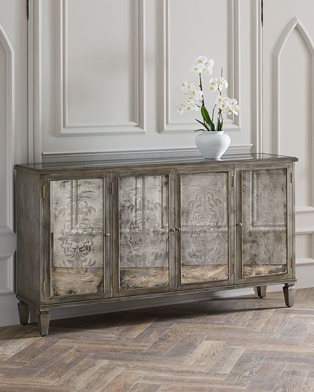 Delicieux John Richard Collection Willa Harston Mirrored Credenza