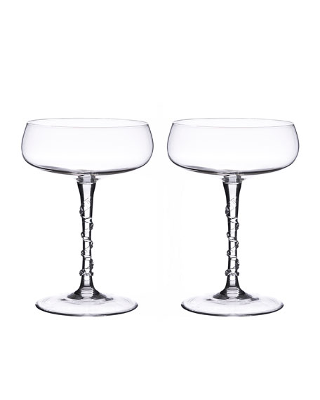 Two Amalia Champagne Coupes