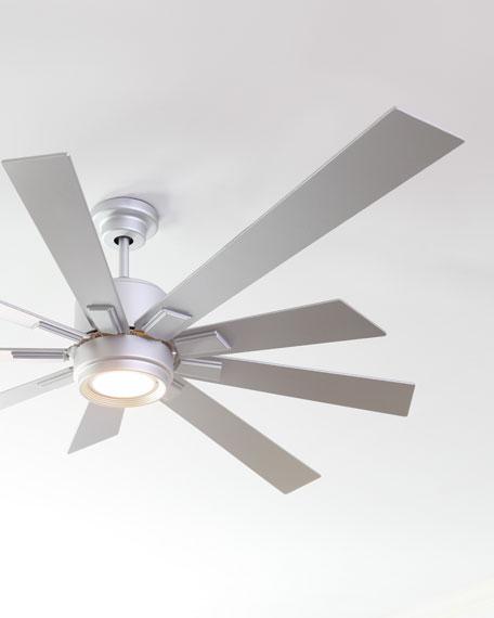 """Silver 72"""" 9-Blade Ceiling Fan"""