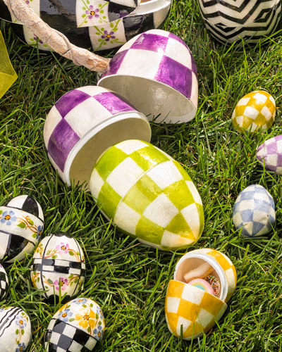 3 Pastel Nesting Eggs