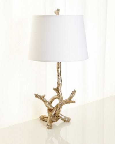 Silver Leaf Branch Lamp