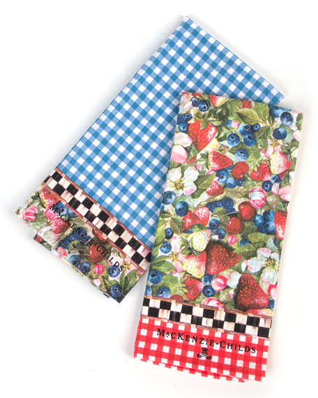 2 Berries and Blossoms Dish Towels