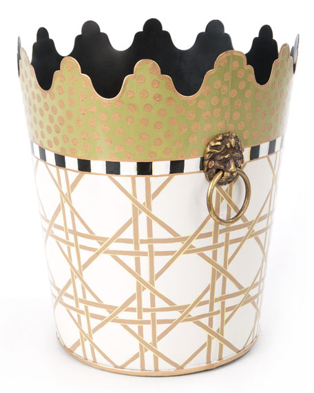 Lattice Wastebasket