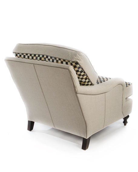 Underpinnings Striped/Checks Lounge Chair