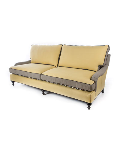 Courtly Check Underpinnings/Cornsilk Sofa