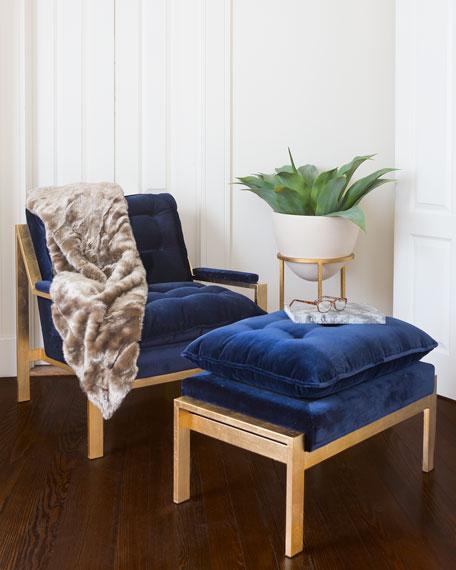 Daelyn Velvet Armchair