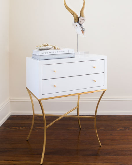 Genial MacBeth Two Drawer Side Table