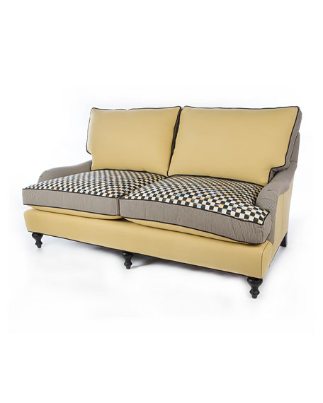 Courtly Check Underpinnings/Cornsilk Loveseat
