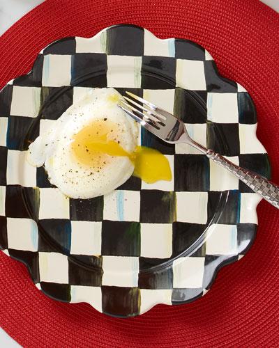 Courtly Check Enamel Petal Dinner Plate
