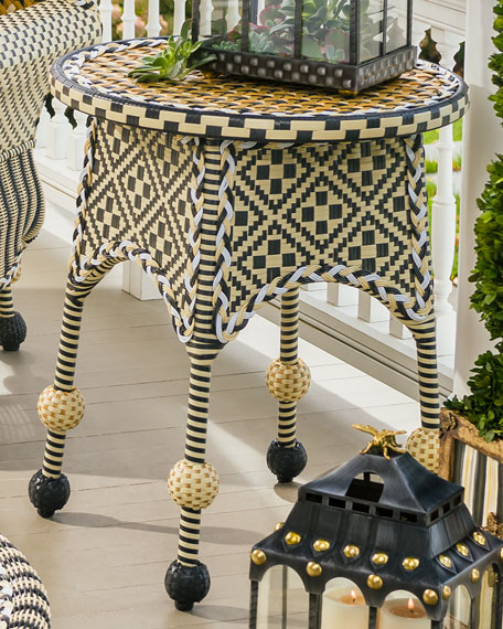 MacKenzie-Childs Courtyard Outdoor End Table