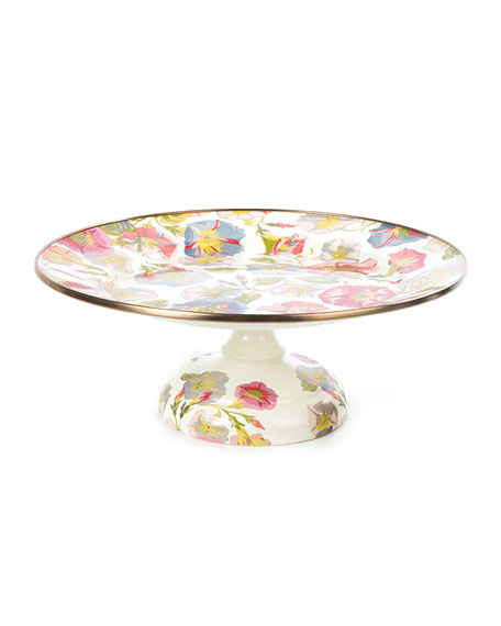 Small Morning Glory Pedestal Platter