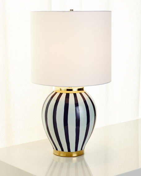 Blue Stripe Table Lamp