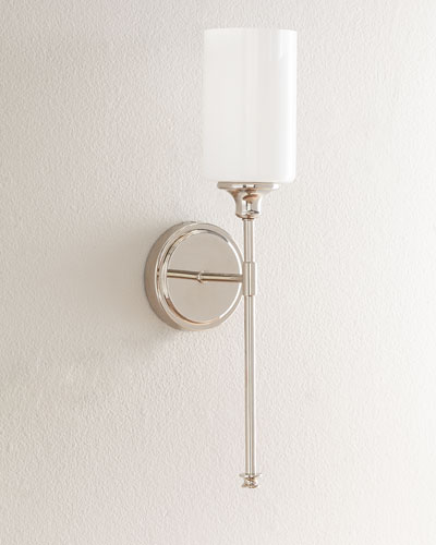 Celeste Polished Nickel Sconce