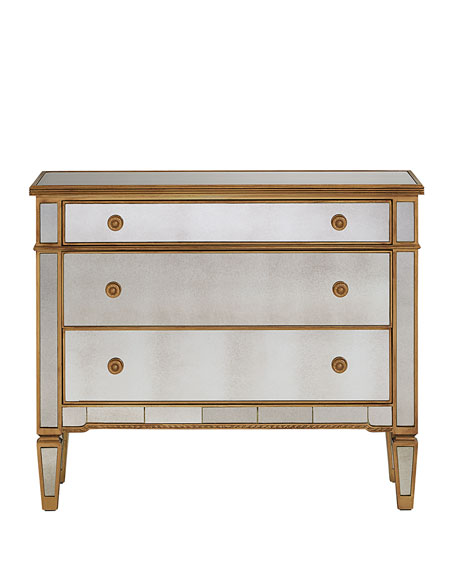 Amelie Mirrored Three-Drawer Chest