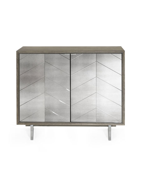 Layna Chevron Mirrored Bar Cabinet Images, Photos, Reviews