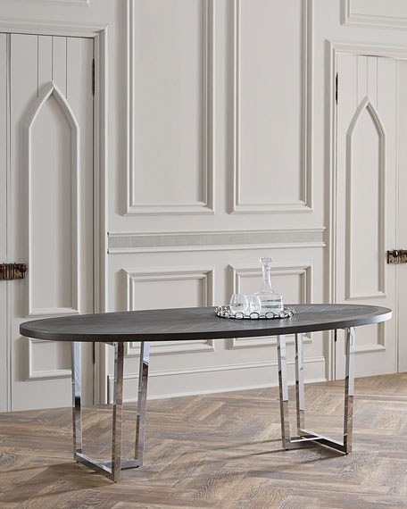 Chason Oval Dining Table - Oval dinner table