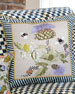 Large Thistle & Bee Square Pillow