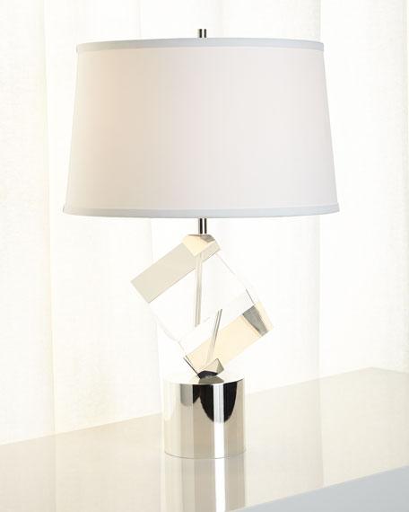 Crystal-Cube Table Lamp