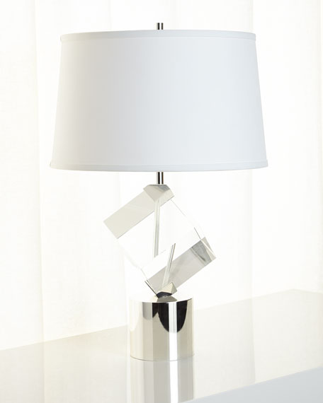 Crystal Cube Table Lamp