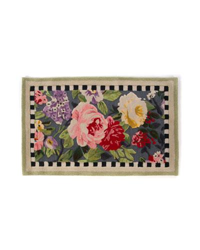 Tudor Rose Rug  2.25' x 3.75'