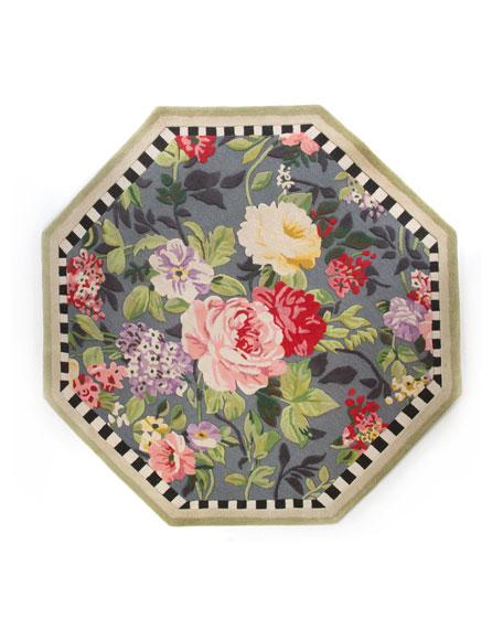 Tudor Rose Rug, 6' Octagon
