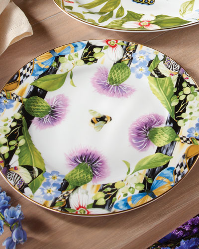 Thistle & Bee Charger Plate