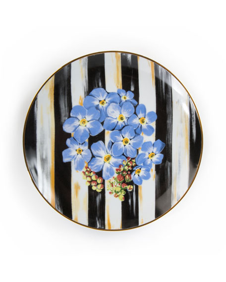 Forget-Me-Not Thistle & Bee Salad Plate
