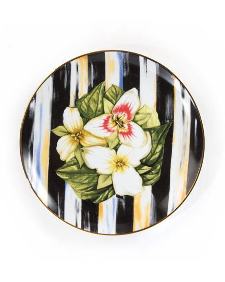 Trillium Thistle & Bee Salad Plate