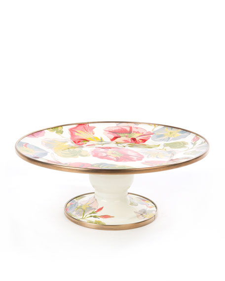 Mini Morning Glory Pedestal Platter