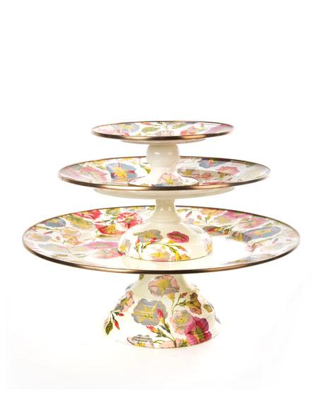 Mini Morning Glory Pedestal Platter